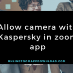 Allow camera with Kaspersky in zoom app
