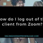 How do I log out of the client from Zoom?