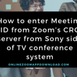 How to enter Meeting ID from Zoom's CRC server from Sony side of TV conference system