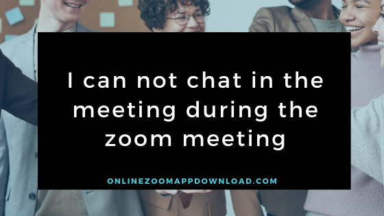 meeting during the zoom meeting