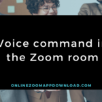 Voice command in the Zoom room