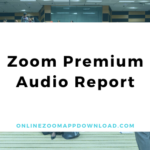 Zoom Premium Audio Report