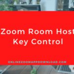 Zoom Room Host Key Control