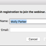 Schedule a zoom webinar that does not require registration