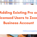 Adding Existing Pro or Licensed Users to Zoom Business Account