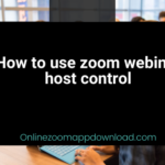 How to use zoom webinar host control