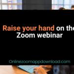 Raise your hand on the Zoom webinar