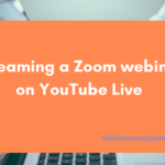 Streaming a Zoom webinar on YouTube Live