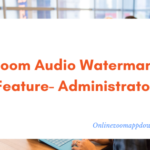 Zoom Audio Watermark Feature- Administrator