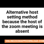 Alternative host setting method because the host of the zoom meeting is absent