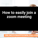 How to easily join a zoom meeting