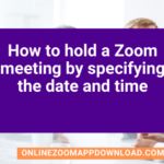 how to hold a zoom meeting