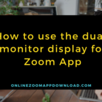 How to use the dual-monitor display for Zoom App