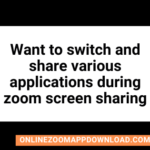 I want to switch and share various applications during zoom screen sharing