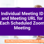 Individual Meeting ID and Meeting URL for Each Scheduled Zoom Meeting