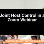 Joint Host Control in a Zoom Webinar