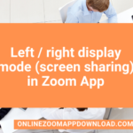 Left / right display mode (screen sharing) in Zoom App