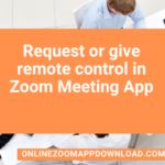 Request or give remote control in Zoom Meeting App