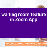 waiting room feature in Zoom App